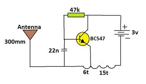 bc547 transistor fm transmitter simplest audio transmitter spybug all