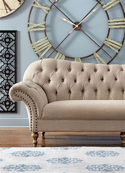 home decorators collection lakewood beige linen sofa 297 best living room images on pinterest armchairs