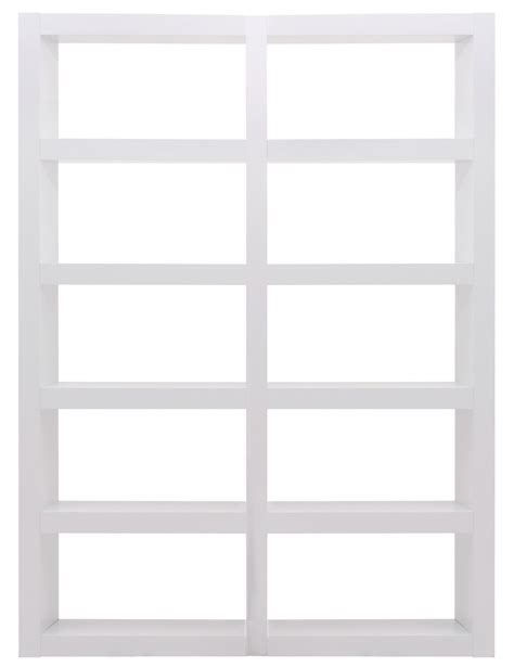 denso high gloss white 10 shelf bookcase unit 9500 515682