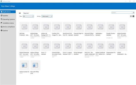 microsoft software installing programs via microsoft software center tech