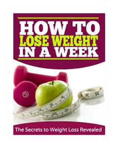 how to lose weight in a week at home how to lose weight in a week book pdf