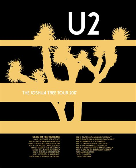 Poster U2 Band M102 stephen medawar band poster series u2 joshua tree tour 2017