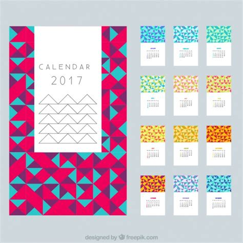 design calendar 2017 modern calendar 2017 in polygonal design vector free