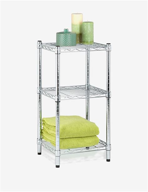 honey can do 3 tier chrome wire shelving unit stage stores
