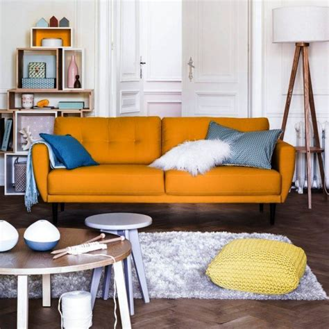 living room with orange sofa 100 awesome living room ideas for your home