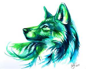 colorful wolf 50 inspiring color pencil drawings of animals by katy