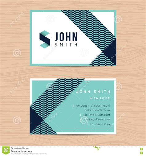 Business Card Appointment Clean Template Design Illustrator by Modern And Clean Design Business Card Template In Abstract