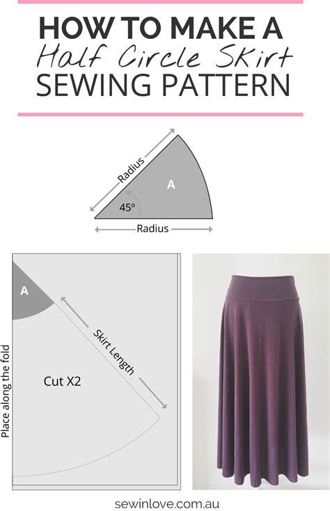 How To Make A Paper Pattern For Sewing - how to make a skirt in one day easy half circle skirt