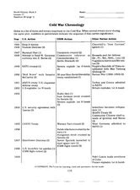 the cold war and beyond chronology of the united states air 1947 1997 aviation and space milestones of the fifty years of the usaf books cold war chronology 8th 12th grade worksheet lesson planet