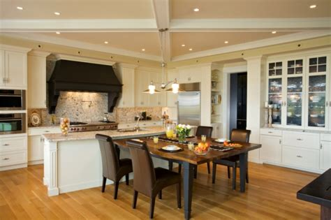combined kitchen and dining room kitchen and dining room combination makeovers matakichi