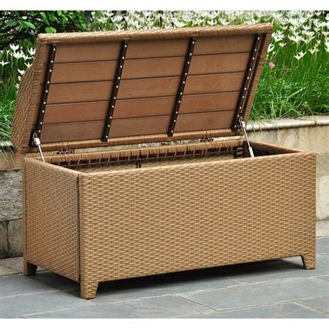 outdoor trunk bench patio bench trunk in honey pecan 4221 hy
