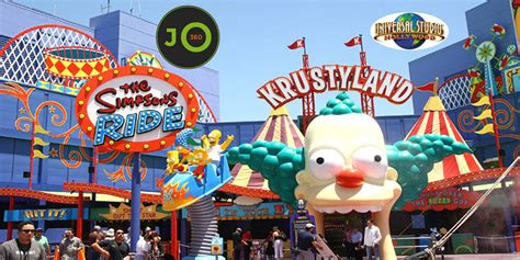 theme park on the simpsons 360 176 krustyland the simpsons ride entrance universal