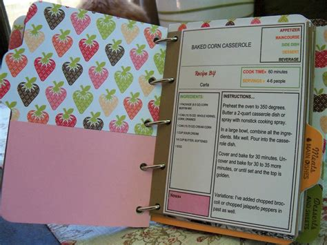 Handmade Cookbook - furloughed time cookbook scrapbook