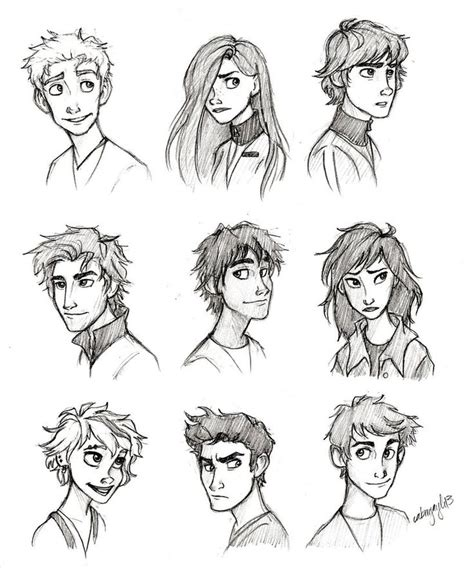 cartoon guy hairstyles rostros rostro pinterest character ideas character