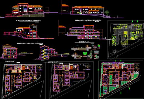 Duplex Home Interior Design by Modern Hospital Detailing Autocad Dwg