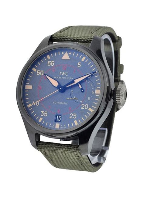 Iwc Green Angka Green iwc iw501902 big pilot top gun miramar in black ceramic on green fabric with anthracite
