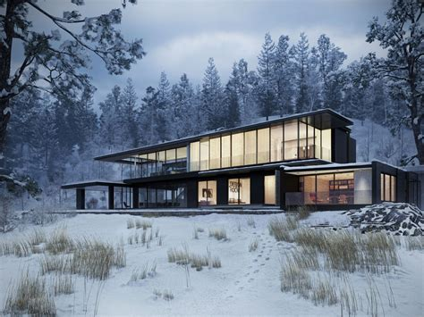 Best House For Winter by 1000 Images About 3d Architecture Winter On