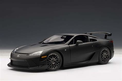 lfa lexus black autoart 1 18 scale lexus lfa nurburgring package matt