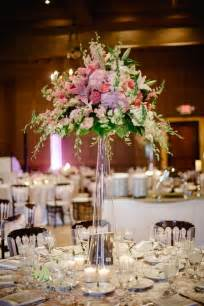 table flower centerpieces glass cylinder centerpiece with pink hydrangea pink peonies pink cymbidium orchids