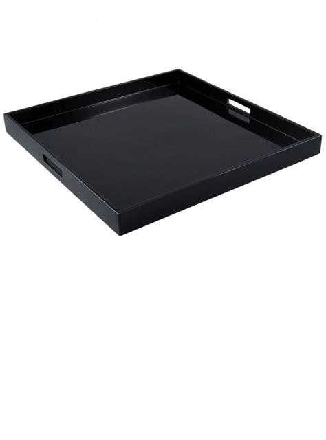 black ottoman serving tray black trays black coffee table tray black coffee table