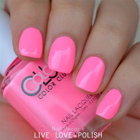 pink nail colors color club modern pink nail poptastic collection