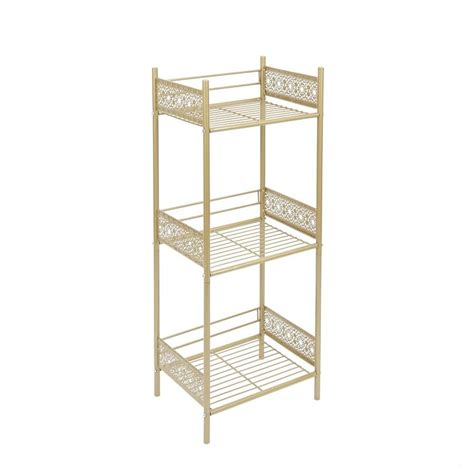 gold bathroom shelf shop gold iron bathroom shelf filigree bathroom
