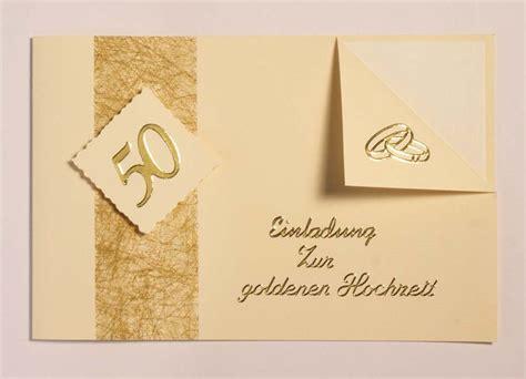 Einladung Zur Goldenen Hochzeit by Einladungskarten Zur Goldenen Hochzeit Texte Karten Und