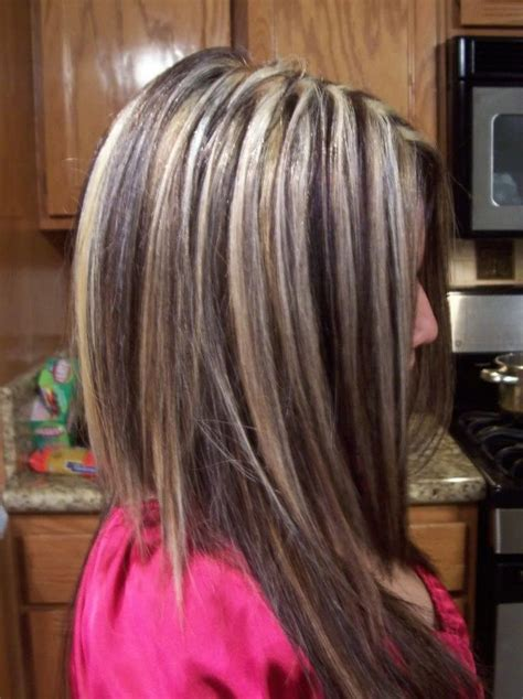 red blonde and brown highlights hair makeup pinterest chunky highlights hairstyles browse dark brown hair with