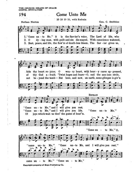 Come unto me, It is the Savior's voice | Hymnary.org