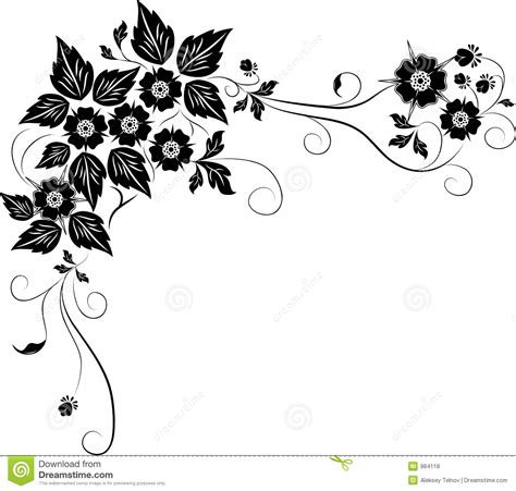 design flower with vector element for design flower vector royalty free stock