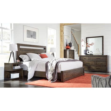 aspenhome modern loft california king bedroom group