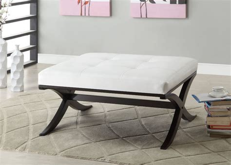tufted ottoman coffee table white