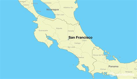 san francisco in world map where is san francisco costa rica where is san