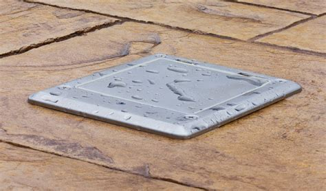decorative floor outlet cover plate to match any interior