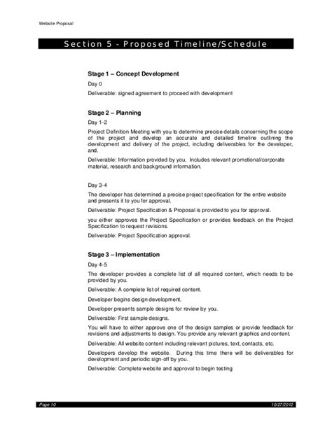 website design proposal and letter of agreement web site proposal