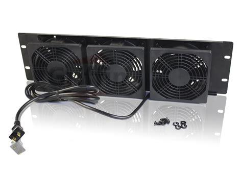 panel cooling fan 3u rackmount studio equipment gear cooling cool fan panel