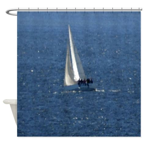 sailboat shower curtain sailboat shower curtain by hopeshappyhome