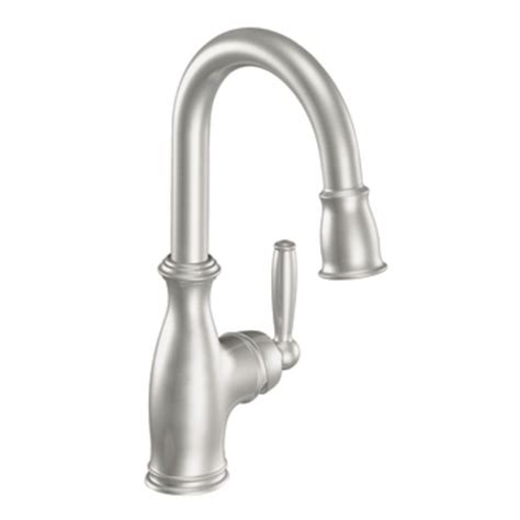 Bar Faucet by Moen 5985csl Brantford One Handle High Arc Pulldown Bar