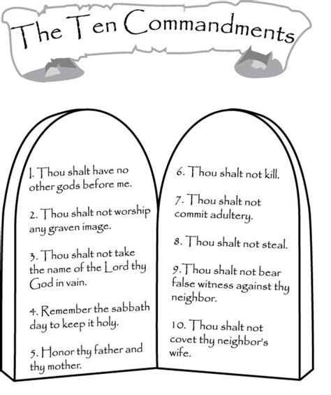 ten commandment coloring pages for kids com wp