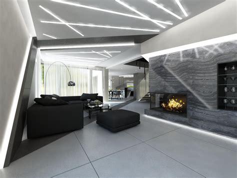 nowoczesny salon nowoczesne wnętrza salonu i kuchni wizualizacje