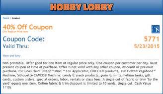 Hobby lobby coupon hobby lobby coupon june 2015 40 off a single item