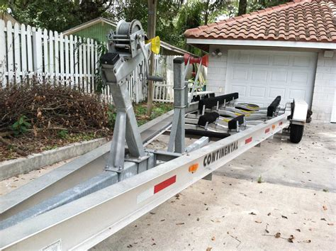 boat trailer triple axle used trailer for sale continental 2008 triple the hull