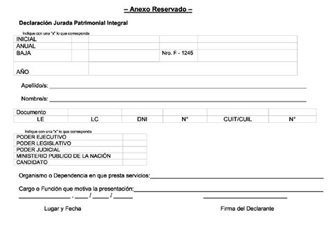 formulario anexo patrimonial formulario declaracion patrimonial jurada new style for