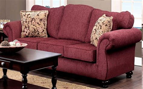 burgundy couches chelsea home ruthie sofa set delray burgundy chelsea