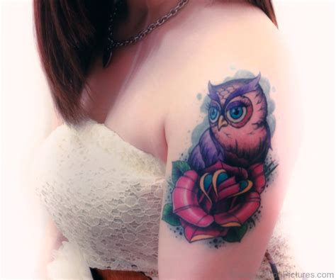 owl and rose tattoo meaning 83 dazzling flower tattoos on shoulder