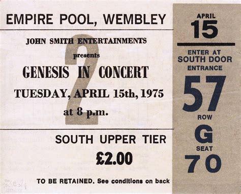 genesis tickets genesis ticket the empire pool wembley 15th april