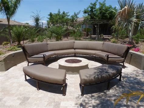 Custom Curved Outdoor Furniture Sectional Sunbrella Outdoor Material For Patio Furniture