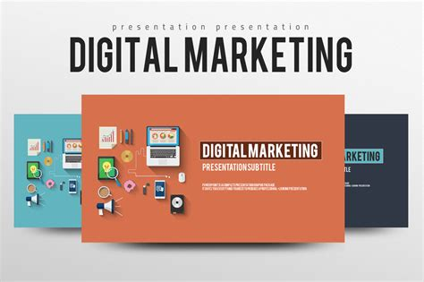digital marketing ppt template digital marketing presentation templates on creative market