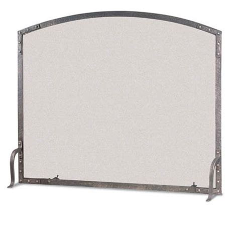 Pilgrim Fireplace Screen by Pilgrim Single Panel World Forged Iron Fireplace Screen