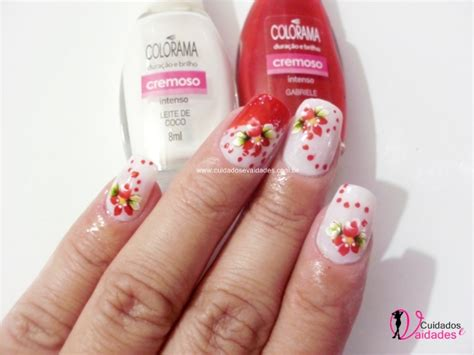 imagenes uñas decoradas flores unhas decoradas flores rosa car interior design